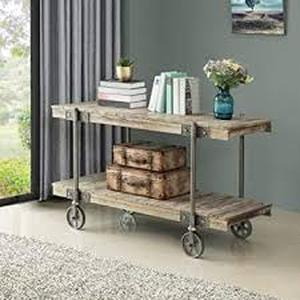 FirsTime & Co. Oxford Factory Cart Console Table