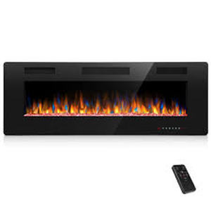 50-inch Ultra-thin Electric Fireplace Insert for Wall-mounted or In-wall Installation Retail:$274.49