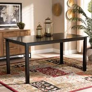Eveline Modern and Contemporary Espresso Finished Wood Dining Table Retail:$287.16