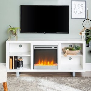 Middlebrook Designs Fireplace TV Stand Console w/ Shelving