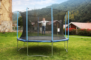 Airbound 10'ft Round Trampoline with Safety Enclosure