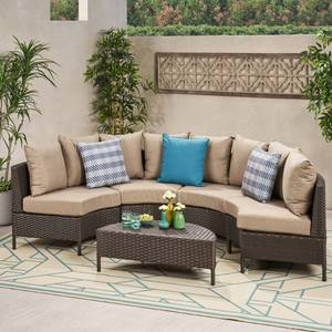 Newton Outdoor 4-seater Wicker Sectional Sofa by Christopher Knight Home- Retail:$917.99