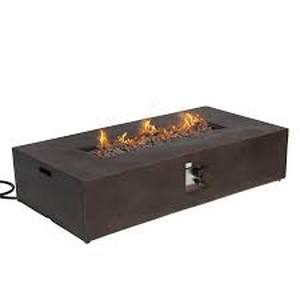 COSIEST Outdoor Propane Fire Pit Table 56-inch x 28-inch Rectangle Bronze $699.99