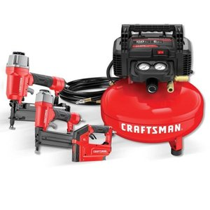Craftsman Tools 6-Gallon Portable Electric Pancake Air Compressor (3-Tools Included)