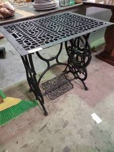 Antique Cast Iron Sewing Machine Table