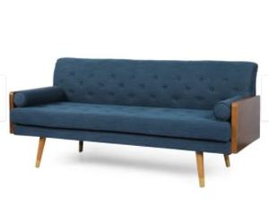 Jalon Mid-Century Modern Tufted Fabric Couch by Christopher Knight- Retail:$474.49