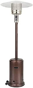 UPHA 46000 BTU Commercial Bronze Outdoor Patio Heater with Sandbox and Wheels