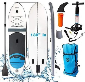 NOBRANDS Inflatable Stand Up Paddle Board,130''30''6''with Premium SUP Accessories & Backpack & Pump