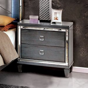 Furniture of America Drow Contemporary Grey Solid Wood Nightstand- Retail:$272.99