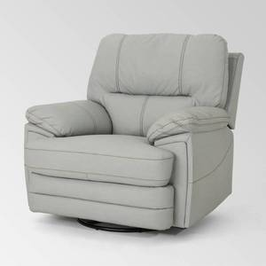 christopher knight home elodie bubba pu faux leather swivel power recliner Light Grey Retail:$571.99