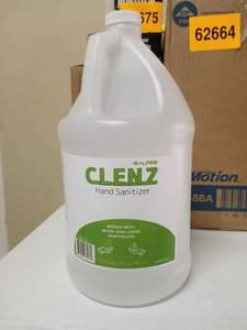 Alpine Industries Clenz 1 Gal. Commercial Instant Liquid Hand Sanitizer Clear