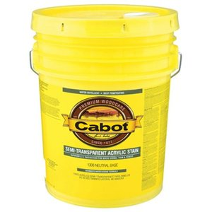 Cabot 1307 5 Gallon, Deep Base Semi Transparent Water Based Stain
