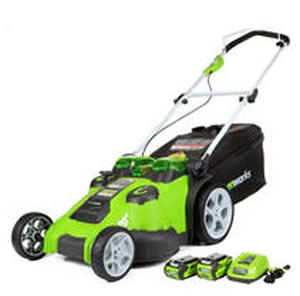 GreenWorks 25302 Twin Force G-MAX 40V Li-Ion 20-Inch Cordless Lawn Mower with 2 Batteries and a Charger Inc.