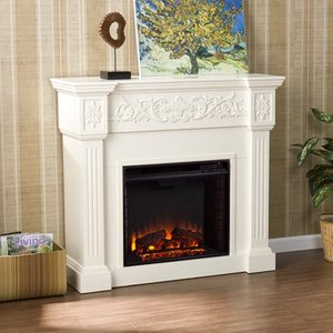 SEI Calvert Gel Fuel Fireplace, Ivory