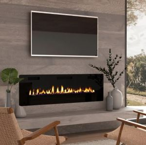 60-inch Ultra-thin Electric Fireplace Insert for Wall-mounted or In-wall Installation- Retail:$480.36