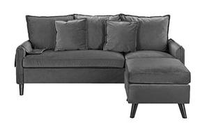 Casa AndreaMilano Furniture Classic Sectional, Rust, Dark Grey