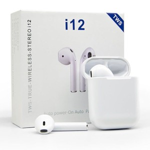 i12 White TWS Bluetooth 5.0 Wireless Earbuds, Touch Control, Wireless Bluetooth Headphones with Deep Bass HiFi Stereo Sound iOS and Android
