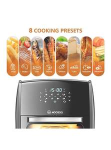 MooSoo Air Fryer Oven Black