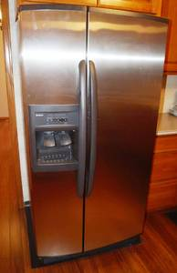 Kenmore Coldspot Side-by-side Refrigerator - MODEL 106-5438330 - Currently Cold & Making Ice! VERY CLEAN!