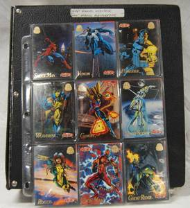 "Album of  ""1994 "" Marvel Universe & ""1994"" Marvel Masterpiece  Collector CARDS"""