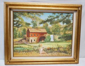 "Framed Oil Painting by Donalda - 18"" x 24"" plus frame"