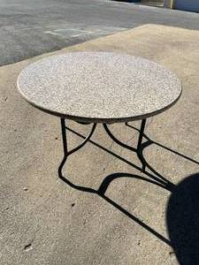 "54"" round granite table with base"
