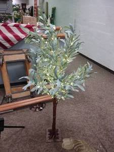 4ft Lighted Olive Tree Decoration