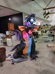 2 Headed Light-Up Inflatable Dragon