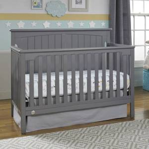 Fisher-Price Colton 4-in-1 Convertible Crib, Gray {RETAIL $269.99}