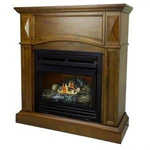 Pleasant Hearth 36 in. Natural Gas Compact Heritage Vent Free Fireplace System 20,000 BTU