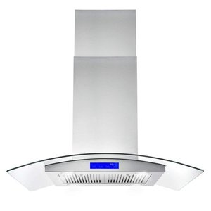 Cosmo COS-668ICS900 36 Inch Island Range Hood w/ Touch Controls, Stainless Steel