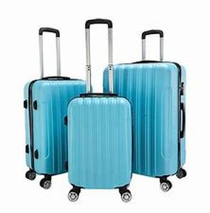"3 Piece Luggage Sets PC+ABS Spinner Suitcase 20"" 24"" 28""- Retail:$97.49"