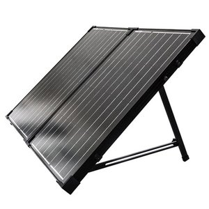 Renogy 100W 12V Monocrystalline Off Grid Portable Foldable Solar Panel Suitcase Built-In Kickstand