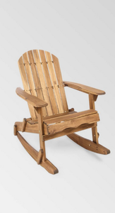 Malibu Outdoor Adirondack Rocking Chair by Christopher Knight Home- Retail:$161.99