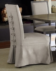 Muses Upholstered Parsons Chairs with cover (Set of 2) - Retail:$309.99
