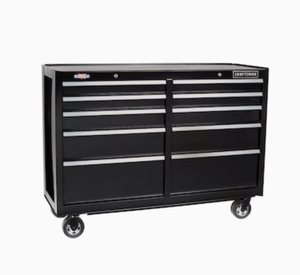CRAFTSMAN 2000 Series 52-in W x 37.5-in H 10-Drawer Steel Rolling Tool Cabinet (Black)