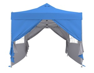 Blue Zenova 10x10 Pop Up Canopy Tent Instant Folding Shelter With 4 Sidewalls-Retail:$208.49