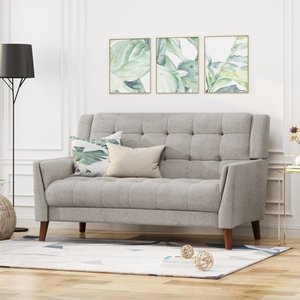Candace Mid Century Modern Fabric Loveseat by Christopher Knight Home- Retail:$433.39