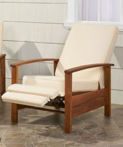 Sandblast Roslyn Outdoor Acacia Wood Push Back Recliner with Cushions by Christopher Knight Home Retail $642.49