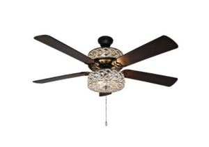 "Olivia 52"" Beaded Wedding Band 5-blade LED Ceiling Fan - 52"" L x 52"" W x 18.25"" H (Pull Chain)"