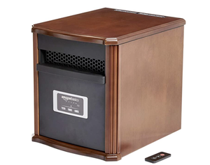 Amazon Basics - Portable Heater with Remote - Cherry Finish