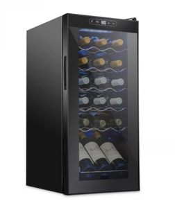 Schmecke 13.6 in. 18 Bottle Compressor Freestanding Wine and Beverage Cooler, Black