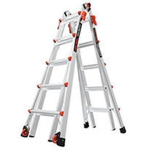 Little Giant Ladder Systems 15422-001 Velocity 300-Pound Duty Rating Multi-Use Ladder, 22-Foot
