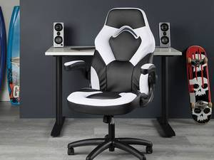 OFM Essentials Bonded Leather Racing Style Gaming Chair