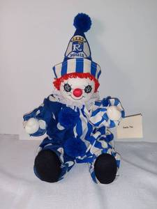 1985 KC Royals Dick Howser Good Luck Charm Clown Doll by Anna Acock