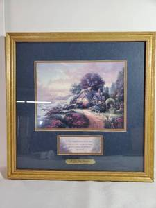 Thomas Kinkade Print. A NEW DAY DAWNING. with Certificate of Authenticity