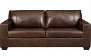 CONTEMPORARY LEATHER MATCH QUEEN SOFA SLEEPER WITH MEMORY FOAM MATTRESS Morelos Collection by Signature Design by Ashley