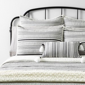 Hearth & Hand Textured Stripe Quilt and 2 Pillow Shams with Magnolia Full/Queen {Retail $110.00}