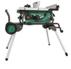 Metabo HPT (was hitachi power tools) 10 in carbide tipped blade 15 amp table saw. - tested and turns on and blade spins. Retail: $569.00