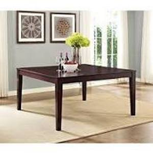 Walker Edison 60 Inch Square Casual Modern Cappuccino Dining Table